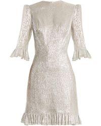 The Vampire's Wife - Festival Ruffle-trimmed Silk-blend Lamé Dress - Lyst