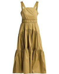 Proenza Schouler - Tiered Cotton-poplin Dress - Lyst