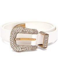 Balenciaga - Crystal Embellished Leather Belt - Lyst