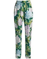 Dolce & Gabbana - Ortensia-print Charmeuse Pyjama Trousers - Lyst