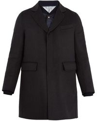 Moncler Gamme Bleu - Double-layered Wool Overcoat - Lyst