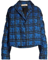 Marni - Geometric-print Quilted Jacket - Lyst