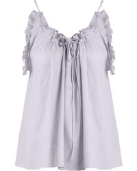 Three Graces London - Erissena Ruffle Trimmed Cotton Pyjama Top - Lyst