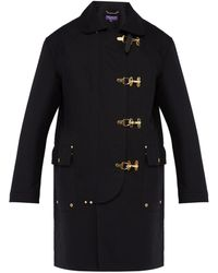 Ralph Lauren Purple Label - Baker Single Breasted Cotton Twill Overcoat - Lyst