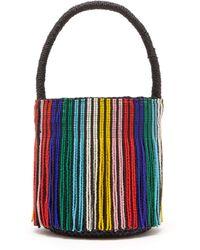 87cc302b0b Sensi Studio - Tasselled Toquilla Straw Mini Bucket Bag - Lyst