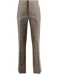 Toga - Checked Slit Hem Wool Trousers - Lyst