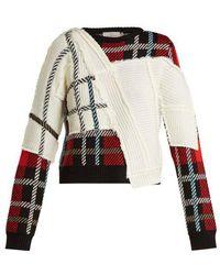 Preen By Thornton Bregazzi - Rita Tartan Knit Sweater - Lyst