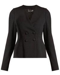 Stella McCartney - Peyton Double-breasted Cropped Jacket - Lyst