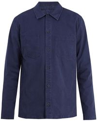 A.P.C. | Franckie Point-collar Cotton Overshirt | Lyst