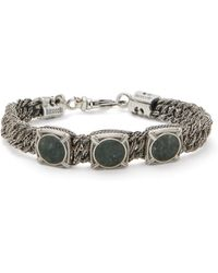 Emanuele Bicocchi - Green Marble & Sterling Silver Bracelet - Lyst