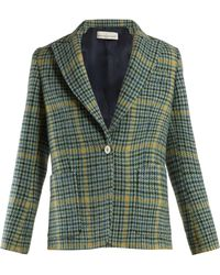 Golden Goose Deluxe Brand - Venice Single-breasted Checked Blazer - Lyst
