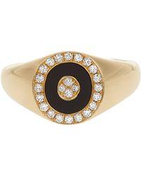 Anissa Kermiche - Diamond, Onyx & Yellow Gold Ring - Lyst