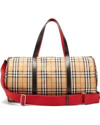 Burberry - Large Kennedy Vintage Check Duffel Bag - Lyst