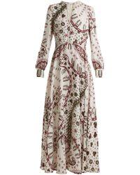 Valentino - Leopard-print Crepe Dress - Lyst