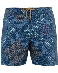 Thorsun - Geometric Print Swim Shorts - Lyst