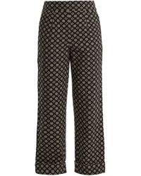 Ace & Jig - Annie High Rise Wide Leg Cotton Trousers - Lyst
