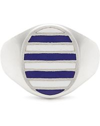 Jessica Biales | Enamel & Sterling-silver Ring | Lyst