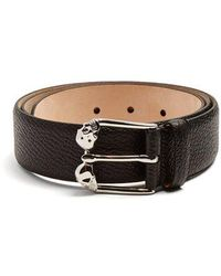 Alexander McQueen - Twin-skull Leather Belt - Lyst