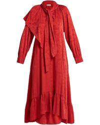 MASSCOB - Brittany Silk Blend Jacquard Dress - Lyst