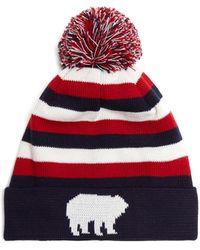 Perfect Moment - Polar Striped Wool-blend Beanie Hat - Lyst