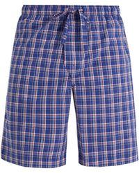 Derek Rose | Barker Checked Cotton Pyjama Shorts | Lyst
