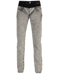 Givenchy - Contrast-waistband Washed Denim Jeans - Lyst