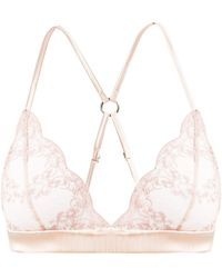 Fleur Of England - Antoinette Lace And Tulle Soft-cup Bra - Lyst