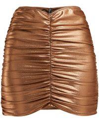 Lisa Marie Fernandez - Metallic Ruched Mini Skirt - Lyst