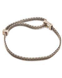 Title Of Work - Macro-mesh Sterling-silver Bracelet - Lyst