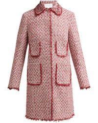 Giambattista Valli - Bead Embroidered Single Breasted Tweed Coat - Lyst