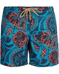 Thorsun - Titan Fit Tattoo Floral Print Swim Shorts - Lyst