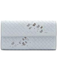 Bottega Veneta - Intrecciato Butterfly-detail Leather Wallet - Lyst