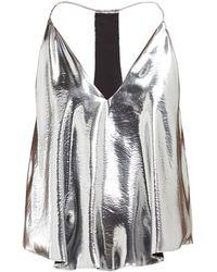 Isabel Marant - Racerback Metallic Silk Blend Camisole - Lyst