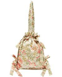 Simone Rocha - Floral-jacquard Cotton Blend Bag - Lyst