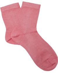 Maria La Rosa - Silk-blend Ankle Socks - Lyst