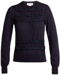 Comme des Garçons - Ruffled Wool Sweater - Lyst