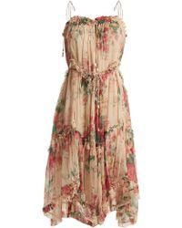 Zimmermann - Laelia Floral Print Silk Dress - Lyst