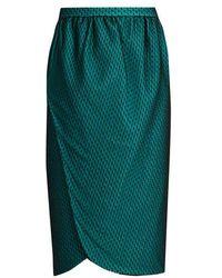 Emilio de la Morena - Salma Wrap-front Knee-length Skirt - Lyst