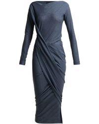 Vivienne Westwood Anglomania - Vian Draped Asymmetric Midi Dress - Lyst