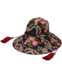 dd85f3889a3 Gucci - Floral Jacquard Bucket Hat - Lyst