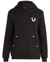 True Religion - Buddha-print Cotton Hooded Sweater - Lyst