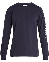 Saturdays NYC | Strikethrough Long-sleeved Cotton T-shirt | Lyst