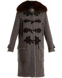 Altuzarra - Gardano Faux-pearl Embellished Wool Coat - Lyst