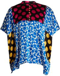 Duro Olowu - Ivy Contrast Panel Silk Top - Lyst