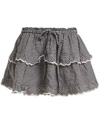 Innika Choo - Gingham Cotton Skirt - Lyst