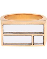 Aurelie Bidermann - Bianca Yellow Gold-plated Mirror Ring - Lyst
