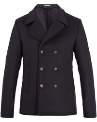 Tomas Maier - Double-breasted Wool-blend Pea Coat - Lyst