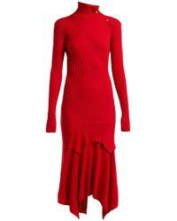 Stella McCartney - Handkerchief-hem Ribbed-knit Dress - Lyst