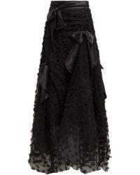 Rodarte - Satin Bow Handkerchief Hem Tulle Skirt - Lyst