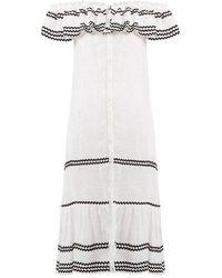 Lisa Marie Fernandez - Mira Ruffle-trimmed Button-through Linen Dress - Lyst